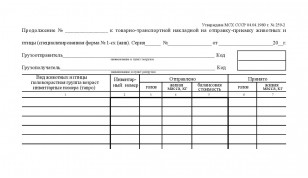 Продолжение №- к ТТН на отправку-приёмку животных и птицы (спец.форма №1-сх (жив) )