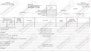401-АПК. Акт на оприходование земельных угодий